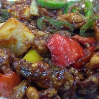 chilli mushroom  at Gokul Sweets and Restaurant in Decatur