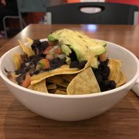 Nachos. Fresh and zesty. Good size for a half-portion! at The Dancing Dog in Urbana