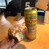 Peanut butter donut and lemonade at Apiecalypse Now Pizza and Snack Bar in Toronto