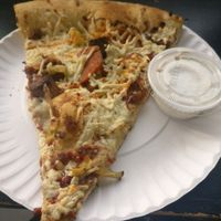 Slice of Pig Destroyer Destroyer at Apiecalypse Now Pizza and Snack Bar in Toronto