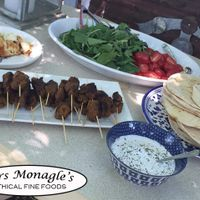 A souvalaki feast  at Mrs. Monagle's Ethical Fine Food in Kyneton