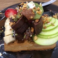 waffles at Mama-P in Charlestown