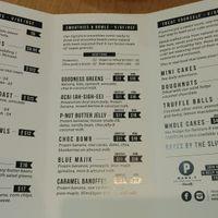menu  at Mama-P in Charlestown