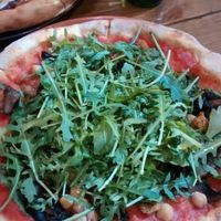 Pizza with chickpeas, OMG!!!! at Aperitivo in Dublin