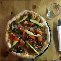 happy pizza at Aperitivo in Dublin