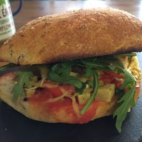 Delicious 'chicken' sandwich  at Aperitivo in Dublin